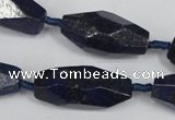 CNL442 15.5 inches 13*30mm faceted nuggets natural lapis lazuli beads