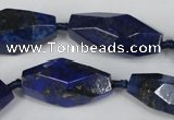 CNL443 15.5 inches 13*30mm faceted nuggets natural lapis lazuli beads