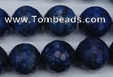 CNL607 15.5 inches 18mm faceted round natural lapis lazuli gemstone beads
