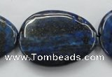 CNL655 15.5 inches 25*35mm flat teardrop natural lapis lazuli beads