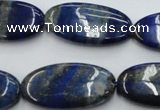 CNL755 15.5 inches 15*30mm oval natural lapis lazuli gemstone beads
