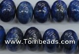 CNL866 15.5 inches 12*16mm rondelle natural lapis lazuli gemstone beads