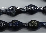 CNL918 15.5 inches 13*22mm vase-shaped natural lapis lazuli beads
