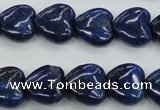 CNL934 15.5 inches 15*15mm heart natural lapis lazuli gemstone beads