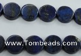 CNL988 15.5 inches 12mm coin natural lapis lazuli gemstone beads