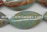 CNS100 15.5 inches 20*40mm marquise natural serpentine jasper beads