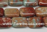 CNS110 15.5 inches 13*18mm rectangle natural serpentine jasper beads
