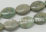CNS12 16 inches 13*18mm oval natural serpentine jasper beads