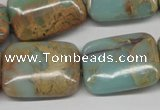 CNS149 15.5 inches 18*25mm rectangle natural serpentine jasper beads