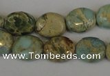 CNS188 15.5 inches 8*10mm oval natural serpentine jasper beads