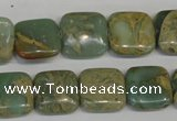 CNS213 15.5 inches 15*15mm square natural serpentine jasper beads