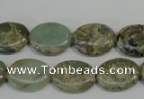 CNS241 15.5 inches 12*16mm oval natural serpentine jasper beads