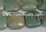 CNS251 15.5 inches 20*20mm square natural serpentine jasper beads