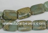 CNS255 15.5 inches 12*16mm rectangle natural serpentine jasper beads
