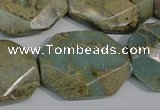 CNS263 15.5 inches 22*30mm octagonal natural serpentine jasper beads