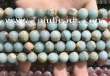 CNS302 15.5 inches 8mm round natural serpentine jasper beads