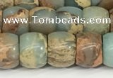CNS307 15.5 inches 8*10mm rondelle serpentine jasper beads