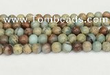 CNS333 15.5 inches 10mm round serpentine jasper beads wholesale