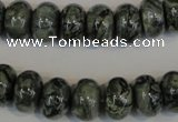 CNS414 15.5 inches 8*12mm rondelle natural serpentine jasper beads