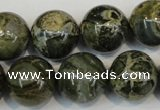 CNS506 15.5 inches 16mm round natural serpentine jasper beads
