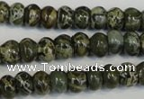 CNS510 15.5 inches 4*6mm rondelle natural serpentine jasper beads
