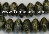 CNS515 15.5 inches 10*16mm rondelle natural serpentine jasper beads