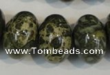 CNS517 15.5 inches 14*20mm rondelle natural serpentine jasper beads