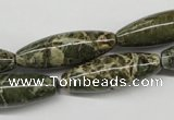 CNS519 15.5 inches 10*30mm rice natural serpentine jasper beads