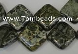 CNS530 15.5 inches 16*16mm diamond natural serpentine jasper beads