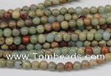 CNS60 15.5 inches 4mm round natural serpentine jasper beads