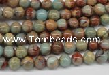 CNS61 15.5 inches 6mm round natural serpentine jasper beads