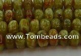 CNS611 15.5 inches 5*8mm rondelle green dragon serpentine jasper beads