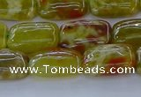 CNS670 15.5 inches 10*14mm rectangle green dragon serpentine jasper beads