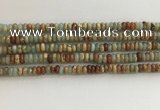 CNS712 15.5 inches 2*4mm rondelle serpentine jasper beads wholesale