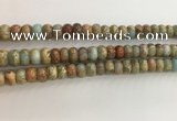 CNS714 15.5 inches 5*8mm rondelle serpentine jasper beads wholesale