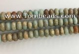 CNS716 15.5 inches 7*12mm rondelle serpentine jasper beads wholesale