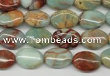 CNS90 15.5 inches 10*14mm oval natural serpentine jasper beads
