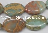 CNS94 15.5 inches 18*25mm oval natural serpentine jasper beads