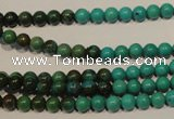 CNT101 15.5 inches 4mm round natural turquoise beads wholesale