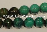 CNT107 15.5 inches 12mm round natural turquoise beads wholesale
