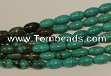 CNT117 15.5 inches 4*8mm rice natural turquoise beads wholesale