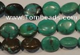 CNT120 15.5 inches 10*12mm oval natural turquoise beads wholesale