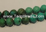 CNT131 15.5 inches 8mm faceted round natural turquoise beads