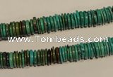 CNT138 15.5 inches 1.5*7.5mm disk natural turquoise beads