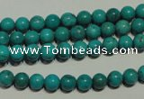 CNT146 15.5 inches 6mm round natural turquoise beads wholesale