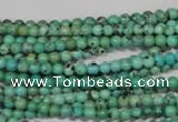 CNT201 15.5 inches 3mm round natural turquoise beads wholesale