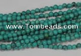 CNT202 15.5 inches 3mm round natural turquoise beads wholesale
