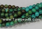 CNT207 15.5 inches 6mm round natural turquoise beads wholesale