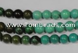 CNT208 15.5 inches 6mm round natural turquoise beads wholesale