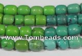 CNT210 15.5 inches 7*5mm � 7*9mm drum natural turquoise beads wholesale